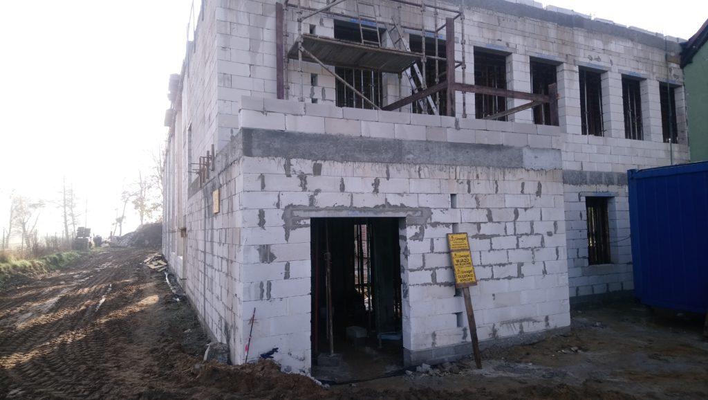 Trwające prace budowlane