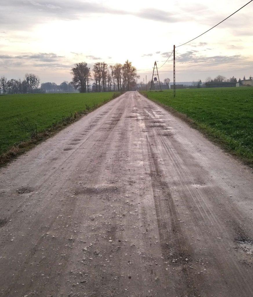 Fragment drogi przewidziany do przebudowy