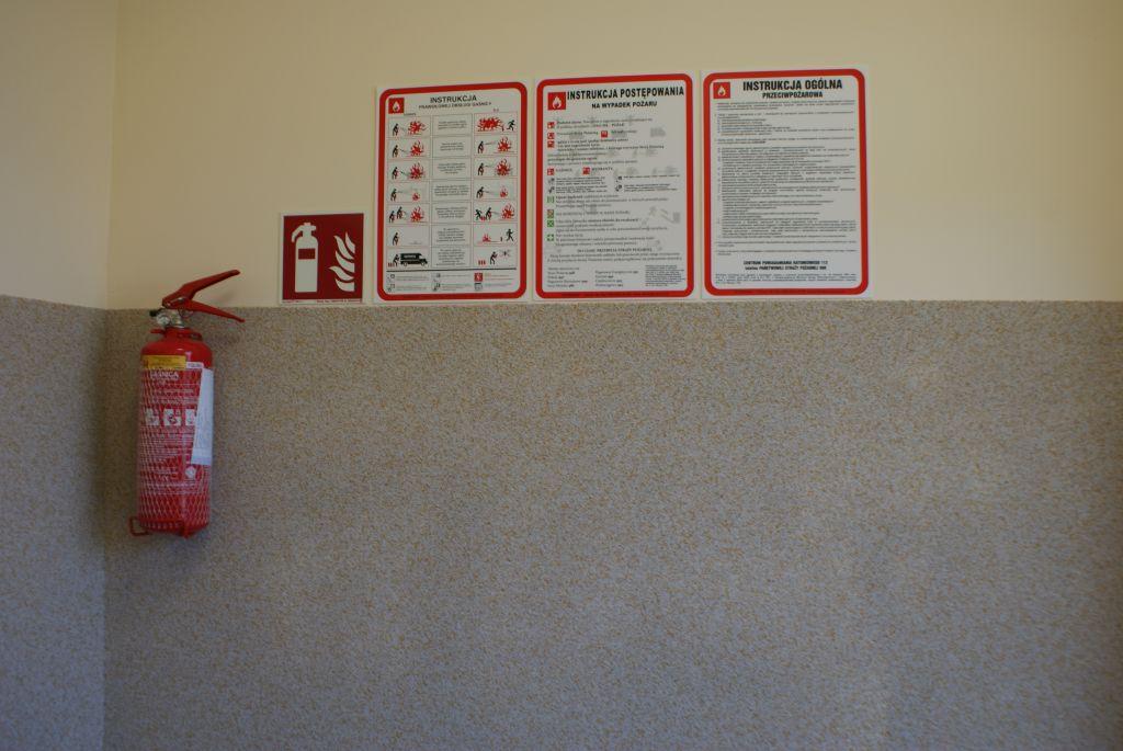 Regulamin wraz z gaśnicą