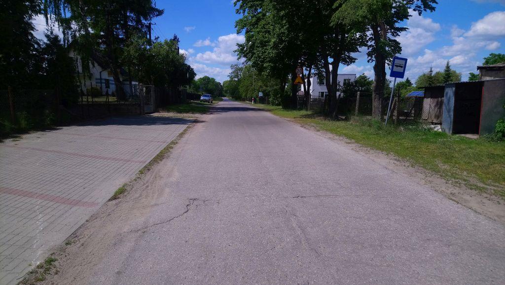 Planowany odcinek drogi do przebudowy