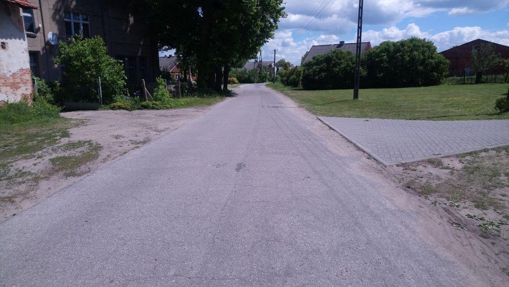 Odcinek drogi który zostanie przebudowany