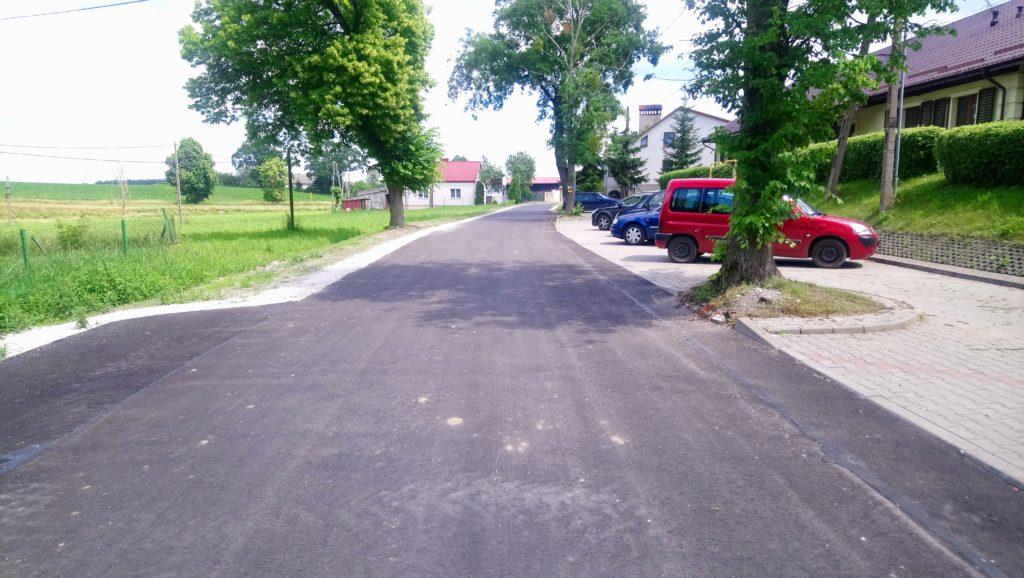 Fragment przebudowanej drogi