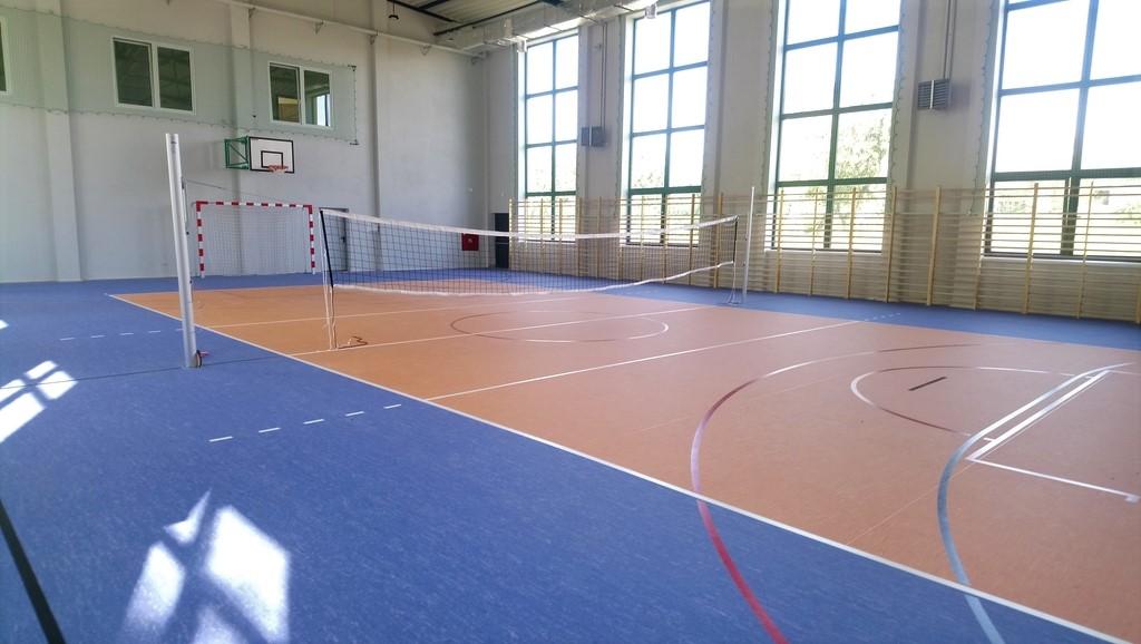 Wnętrze sali sportowe wraz z wyposażeniem