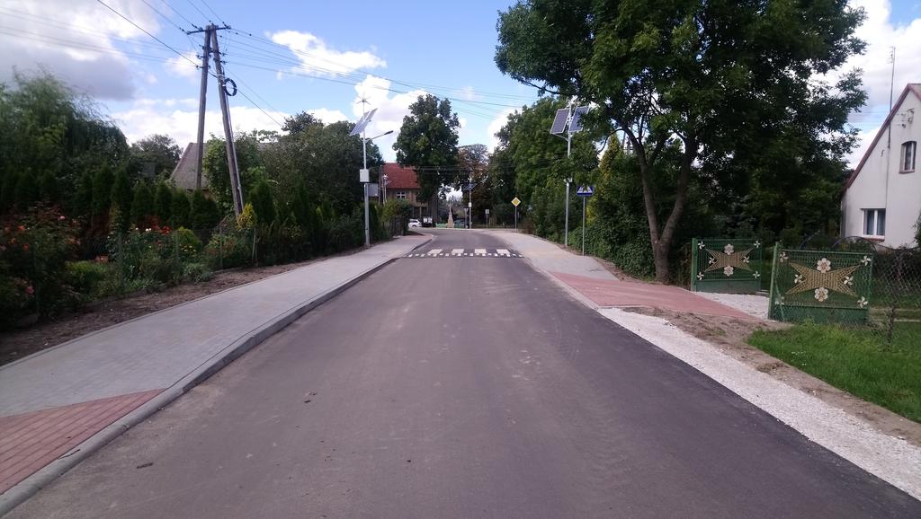 Przebudowany odcinek drogi