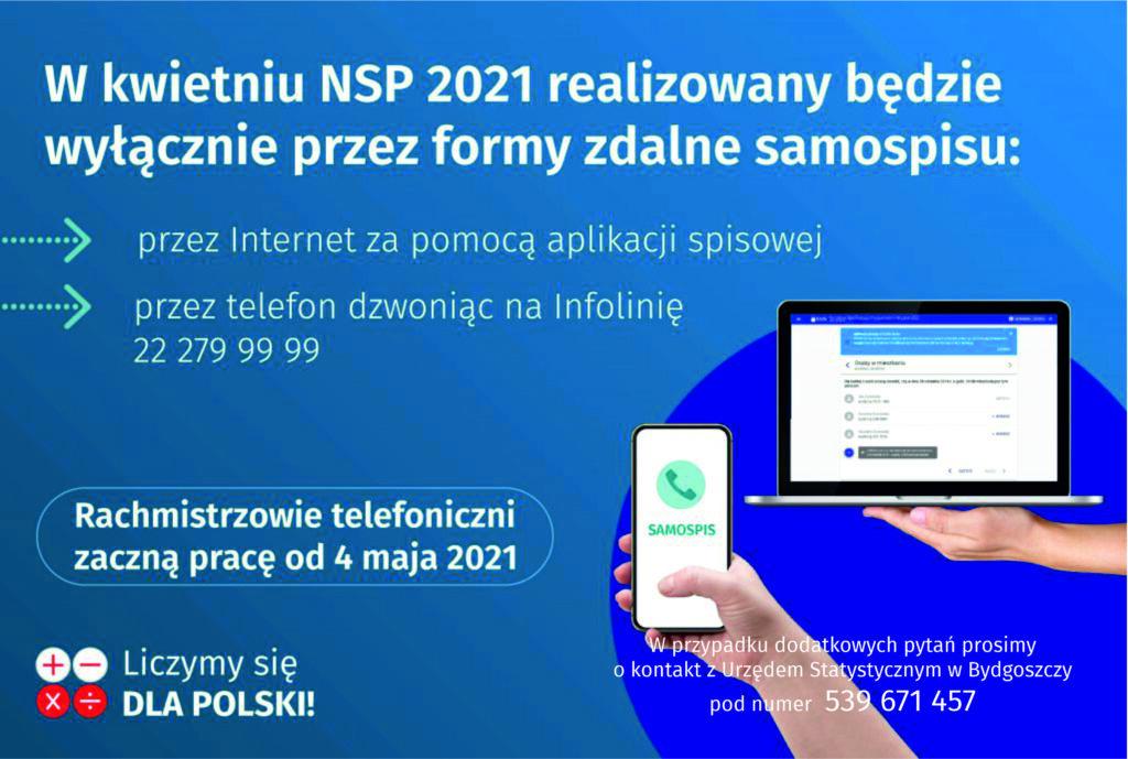 Informacja o metodach realizacji NSP2021 - kwiecień
